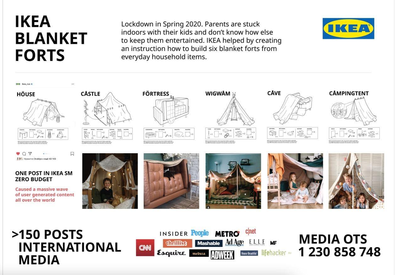 IKEA BLANKET FORTS